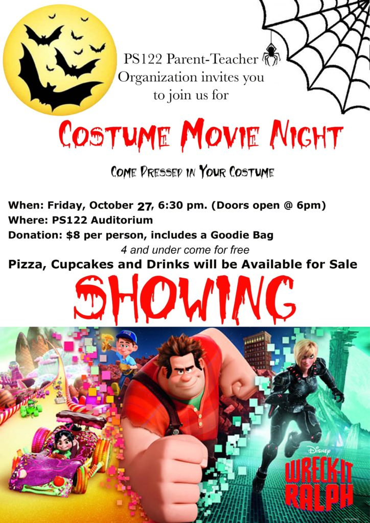 Halloween Movie Night - Welcome to the PS 122 Parent Teacher